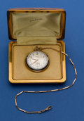 Timepieces:Pocket (post 1900), Waltham 10 Size 21 Jewel Colonial Riverside Gold Filled Pocket Watch & Chain. ...