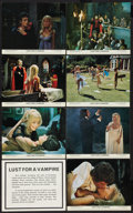 """Movie Posters:Horror, Lust for a Vampire (MGM-EMI, 1971). British Front of House Photo Set of 7 w/ One Printed Title Card (8"""" X 10""""). Horror.. ... (Total: 8 Items)"""