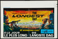 "Movie Posters:War, The Longest Day (20th Century Fox, 1962). Belgian (14.25"" X21.25""). War.. ..."