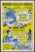 "Movie Posters:Adventure, The Hell Hole Named Panama/The Spoilers of the South Seas Combo(1940). One Sheet (27"" X 41""). Adventure.. ..."