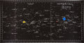 "Transportation:Space Exploration, Apollo 11 Training-Used ""CSM TEC"" Star Chart Directly from thePersonal Collection of Astronaut John Young, Signed and Certifi..."
