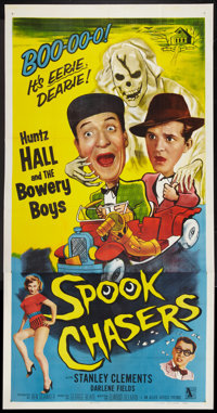 """Spook Chasers (Allied Artists, 1957). Three Sheet (41"""" X 81""""). Bowery Boys Comedy"""