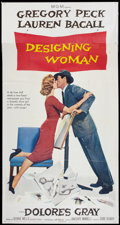 """Movie Posters:Comedy, Designing Woman (MGM, 1957). Three Sheet (41"""" X 81"""") Style D. Comedy.. ..."""