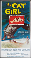 "Movie Posters:Horror, The Cat Girl (American International, 1957). Three Sheet (41"" X 81""). Horror.. ..."