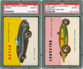 Non-Sport Cards:Singles (Post-1950), 1954 Topps World On Wheels PSA MINT 9 Duo (2) - Both Highest GradeRecorded. ...
