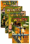 Golden Age (1938-1955):War, Wings Comics #66-69 Group (Fiction House, 1946) Condition: AverageVG.... (Total: 4 Comic Books)