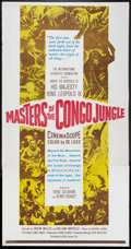 "Movie Posters:Documentary, Masters of the Congo Jungle Lot (20th Century Fox, 1960). Three Sheets (2) (41"" X 81""). Documentary.. ... (Total: 2 Items)"