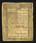 Colonial Notes:Delaware, Delaware January 1, 1776 18d Extremely Fine-About New.. ...
