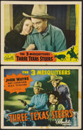 "Movie Posters:Western, Three Texas Steers (Republic, 1939). Title Lobby Card and Scene Card (11"" X 14""). Western.. ... (Total: 2 Items)"