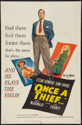 "Movie Posters:Crime, Once a Thief (United Artists, 1950). One Sheet (27"" X 41""). Crime.. ..."