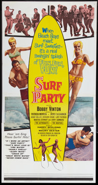 """Surf Party (20th Century Fox, 1964). Three Sheet (41"""" X 81"""") and Lobby Card (11"""" X 14""""). Rock and Ro..."""