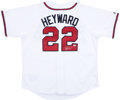 Baseball Collectibles:Uniforms, Jason Heyward Signed Jersey....