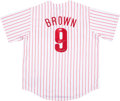 Baseball Collectibles:Uniforms, Domonic Brown Signed Jersey....