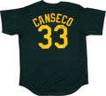Baseball Collectibles:Uniforms, Jose Canseco Signed Jersey....