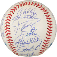 1995 Cleveland Indians Team Signed Baseball (30 Signatures