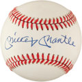 Baseball Collectibles:Balls, Mickey Mantle Signed Signed Baseball....