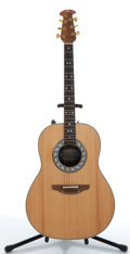 Musical Instruments:Electric Guitars, Ovation 1617 Natural Electric Acoustic Guitar, #197880....