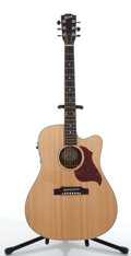 Musical Instruments:Acoustic Guitars, 2007 Gibson Songwriter Deluxe Natural Electric Acoustic Guitar,#03077021....