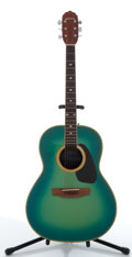 Musical Instruments:Acoustic Guitars, Applause AE-32 Green Electric Acoustic Guitar #055661....