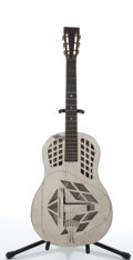 Musical Instruments:Resonator Guitars, 1930's No Name Aluminum Resonator Guitar #N/A...