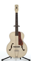 Musical Instruments:Acoustic Guitars, Vintage Harmony White Tiger Strip Archtop Acoustic Guitar # N/A....