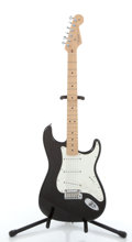 Musical Instruments:Electric Guitars, 2005 Fender American Stratocaster Black Electric Guitar, Serial # Z2054208 ...