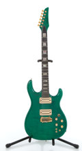 Musical Instruments:Electric Guitars, Carvin DC400 Green Electric Guitar #57151....