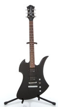 Musical Instruments:Electric Guitars, BC Rich Mockingbird Black Electric Guitar #21121094....