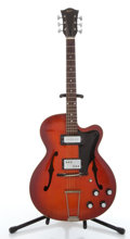 Musical Instruments:Electric Guitars, Vintage Hofner Cherry Archtop Electric Guitar #N/A. ...