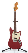 Musical Instruments:Electric Guitars, 1966 Fender Duo Sonic Red Electric Guitar #146237....