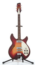 Musical Instruments:Electric Guitars, Vintage Crestwood Rickenbacker Copy Fireglo Electric Guitar #N/A....