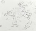 Animation Art:Production Drawing, The Simpsons - The Simpson Family, and Mr. Burns Animation DrawingOriginal Art, Group of 5 (Fox, 1999-2001).... (Total: 5)