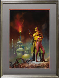 "Boris Vallejo - ""Flash Gordon: Massacre in the 22nd Century"" Paperback Cover Painting Original Art (Tempo Book..."