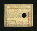 Colonial Notes:Massachusetts, Massachusetts May 5, 1780 $4 Very Fine, HC. This note is holecanelled in the ususal fashion....