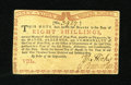 Colonial Notes:New York, New York August 2, 1775 (Water Works) 8s Choice New. The marginsare a little too tight on this lovely Waterworks note to be...