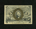"Fractional Currency:Second Issue, Fr. 1232 5c Second Issue About New. A fold and a pinhole are found on this note. An added ""W."" is also found on the back and..."