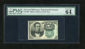 Fractional Currency:Fifth Issue, Fr. 1264 10c Fifth Issue PMG Choice Uncirculated 64EPQ. Asuperlative example of this much scarcer green seal Meredith note...