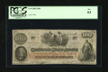Confederate Notes:1862 Issues, T41 $100 1862. This C-note is printed on CSA block letterwatermarked paper. A small amount of ink erosion is noticed inthe...