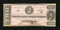 Confederate Notes:1862 Issues, T54 $2 1862. The handling on this note is restricted to the lowerleft and upper right corners. Extremely Fine....