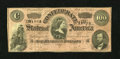 Confederate Notes:1864 Issues, T65 $100 1864. This C-note is of the scarcer dark red tint variety. Fine....