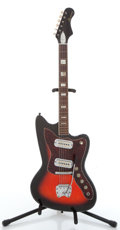 Musical Instruments:Electric Guitars, Late 1960s Harmony H15 Bobkat Cherryburst Electric Guitar...