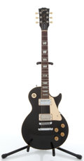 Musical Instruments:Electric Guitars, 1987 Gibson Les Paul Standard Black Electric Guitar, Serial #810578532...