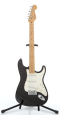 Musical Instruments:Electric Guitars, 1995 Fender American Stratocaster Black Electric Guitar, Serial #N549658...