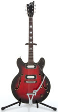Musical Instruments:Electric Guitars, 1970's Univox Custom Semi-Hollow Body Cherryburst Electric Guitar,Serial # 2146345...