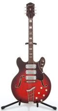 Musical Instruments:Electric Guitars, 1960's Harmony H77 Cherry Burst Semi-Hollow Electric Guitar,#9298....