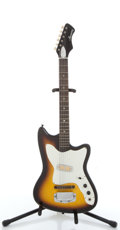 Musical Instruments:Electric Guitars, 1960s Harmony H14 Bobkat Sunburst Electric Guitar #N/A....