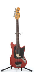 Musical Instruments:Bass Guitars, 1974 Fender Mustang Red Short Scale Electric Bass Guitar#511984....