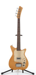 Musical Instruments:Bass Guitars, Vintage Gretsch Natural 4-String Electric Bass Guitar #N/A....