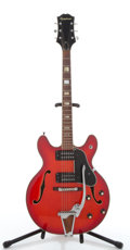 Musical Instruments:Electric Guitars, 1970's Epiphone Riviera Redburst Archtop Acoustic Guitar, Serial#0115657....