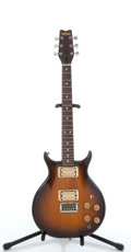 Musical Instruments:Electric Guitars, 1980's Washburn Sunburst Solid Body Electric Guitar #GG810633....